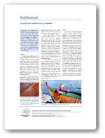 Tradisjonelt vedlikehold av småbåt